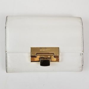 Michael Kors Small White Leather Wallet
